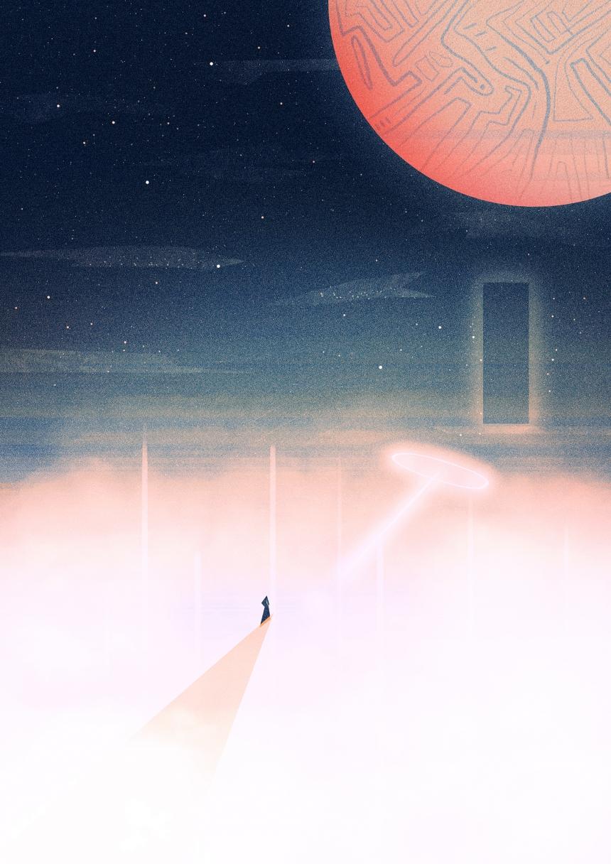 Horizon Print by Kirsty Fabiyi