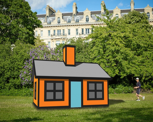 Richard Woods – Holiday Home (Regent's Park), 2018 Enamel paint on birch plywood. Courtesy: Alan Cristea Gallery