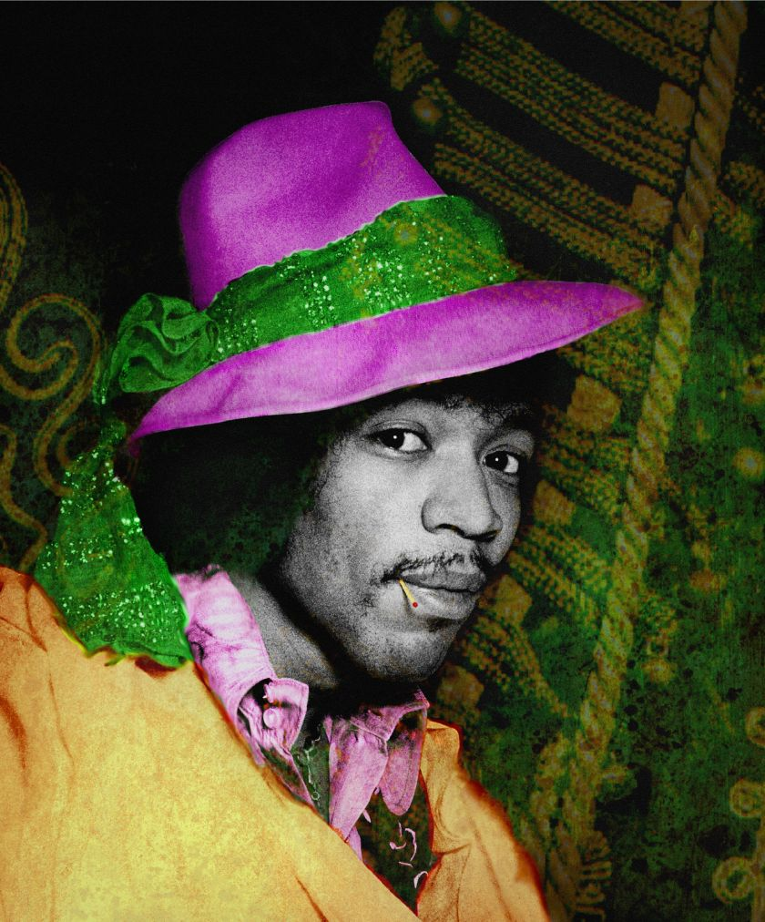 Gered Mankowitz, Jimi Hat, C-type print, 50.8 x 61 cm, © Gered Mankowitz | Iconic Images