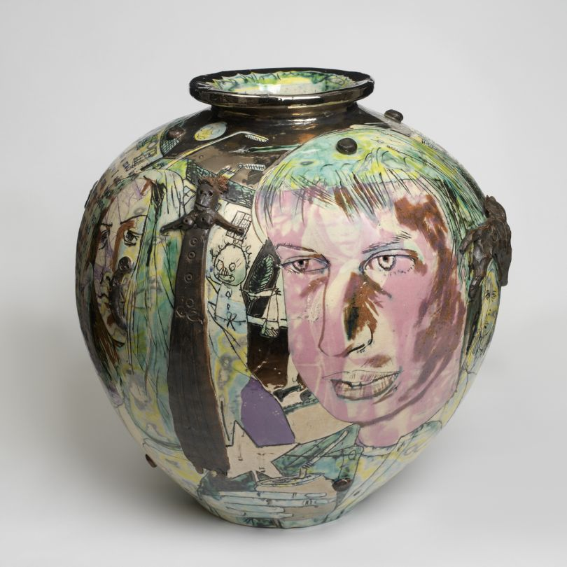 Grayson Perry Mad Kid's Bedroom Wall Pot, 1996 Crafts Council Collection, P442 Photo Todd-White Art Photography