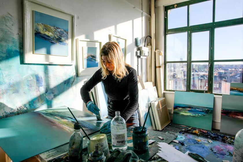 Elaine Jones in her studio. All images courtesy of the artist and First Contemporary
