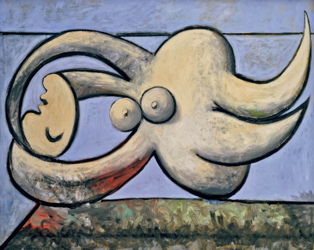 Pablo Picasso Reclining Nude (Femme nue couchée) 1932 Oil paint on canvas 1300 x 1610 mm Private Collection © Succession Picasso/ DACS London, 2017