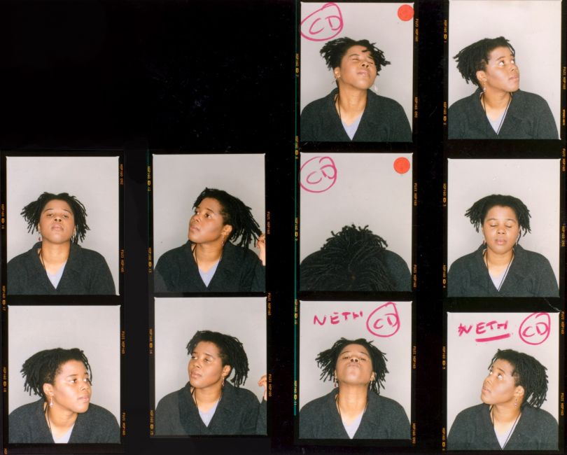 Maxine Walker, Contact sheet from the series Untitled, 1995. Courtesy of the artist and Autograph, London. © Maxine Walker
