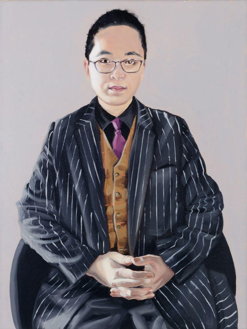 Portrait of Xu Tingyi, oil on linen, 2020 © Paul Gervais