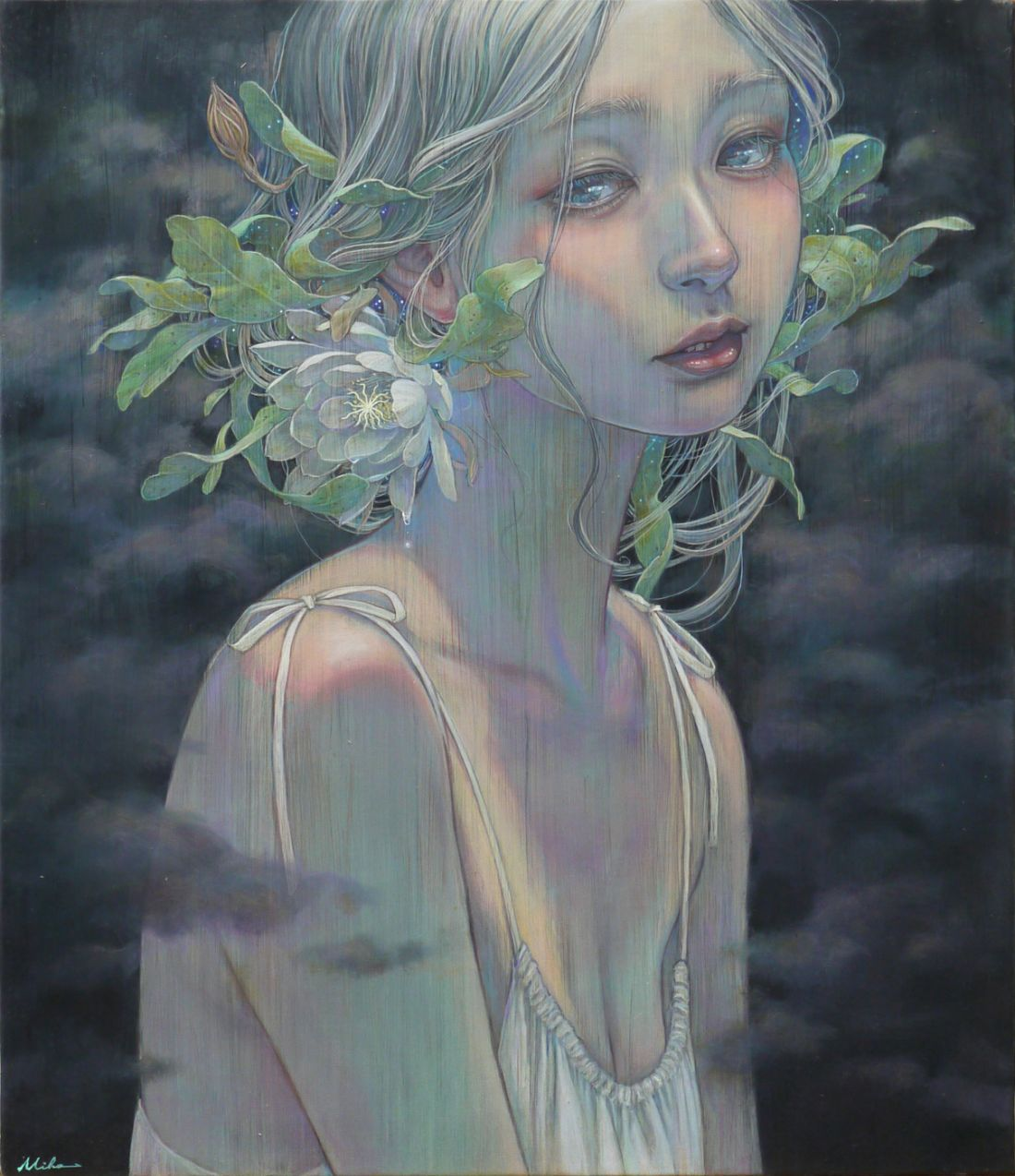 Miho Hirano and Nicoletta Ceccoli share dreamlike oil paintings of fantasy worlds, vulnerability and seduction