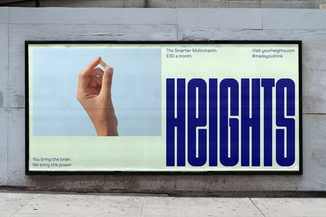 Ragged Edge gives smart supplement brand Heights a non-preachy, brain-stretching identity