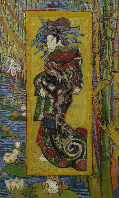 Courtesan (after Eisen). Vincent van Gogh (1853 - 1890), Paris, October-November 1887. Credit: Van Gogh Museum, Amsterdam (Vincent van Gogh Foundation)