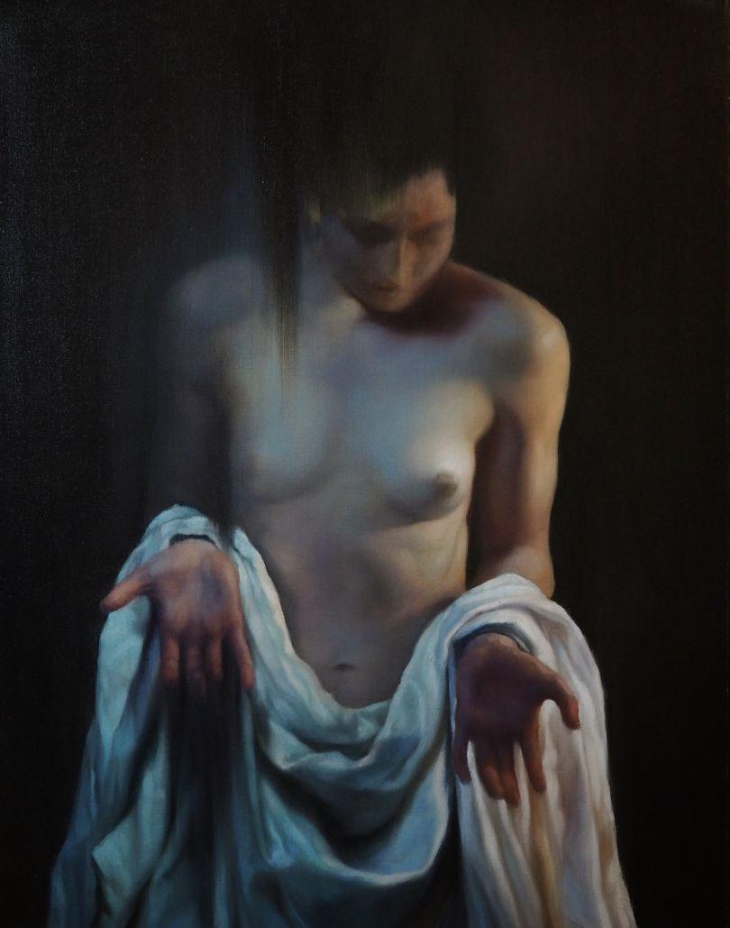The Sieve. Oil on canvas
