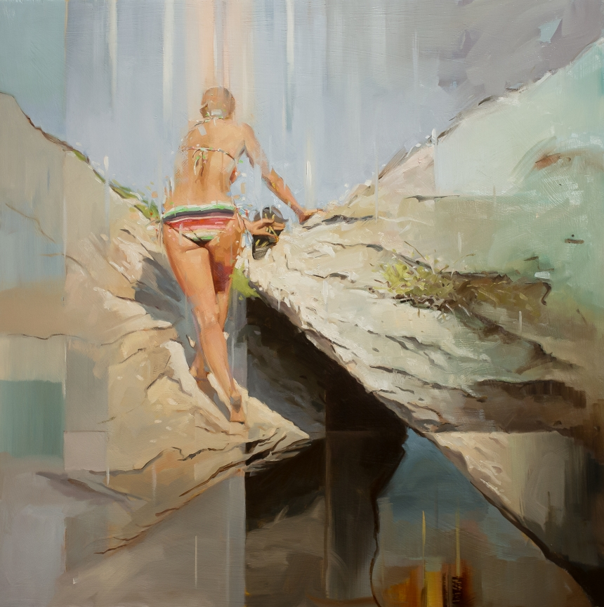Figurative paintings by Johnny Morant are guaranteed to evoke holiday vibes