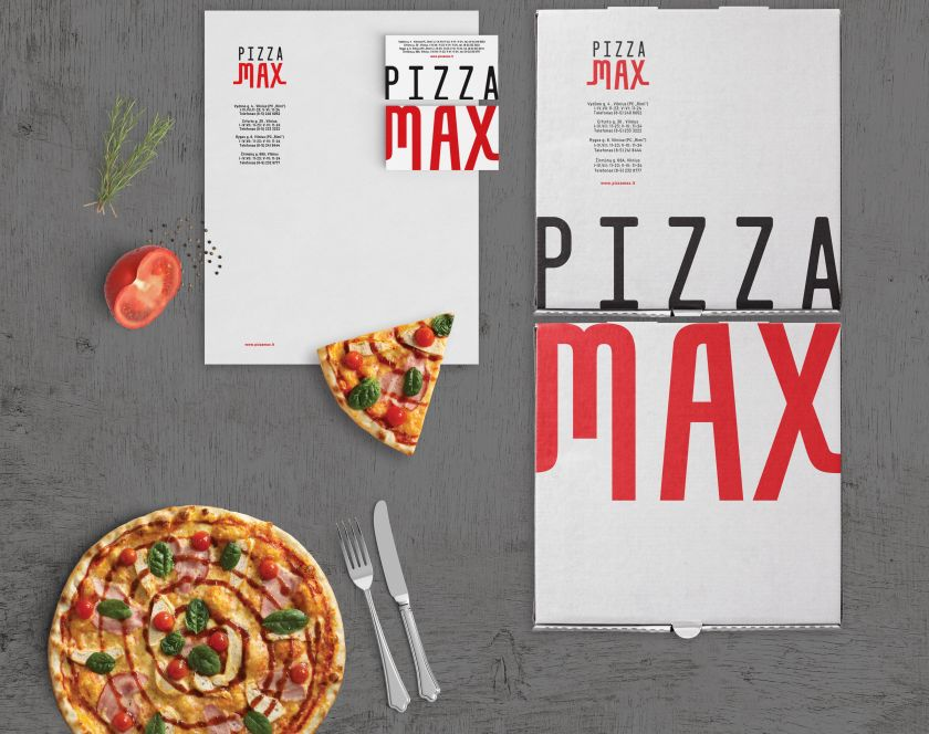 Pizzamax Rebrand by Salvita Bingelyte. Winner in the Graphics and Visual Communication Design Category, 2019-2020.