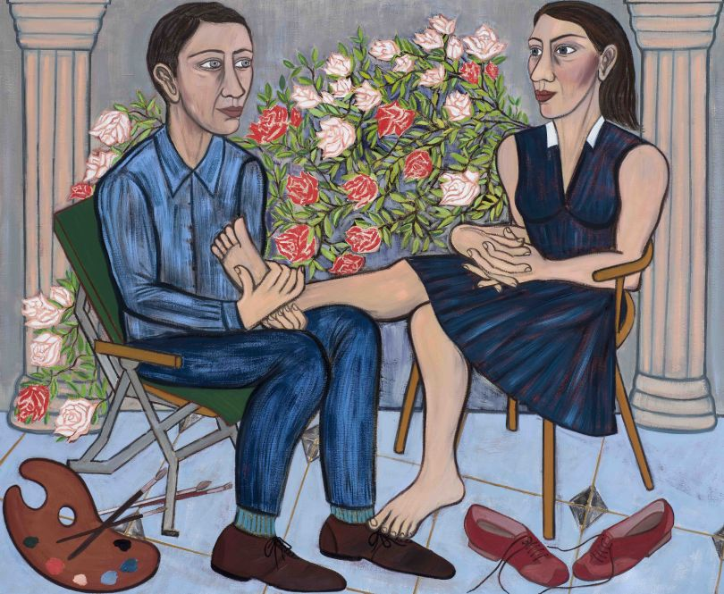 Eileen Cooper, 'Secret Garden', 2019, oil on canvas, 54 × 66 in (137 × 168 cm)