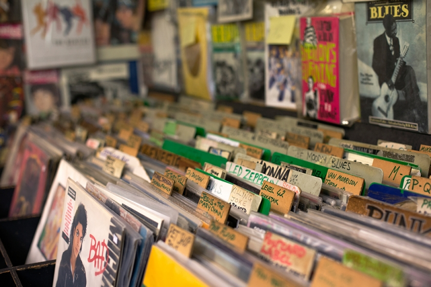 On The Beat record shop, London, November, 2013