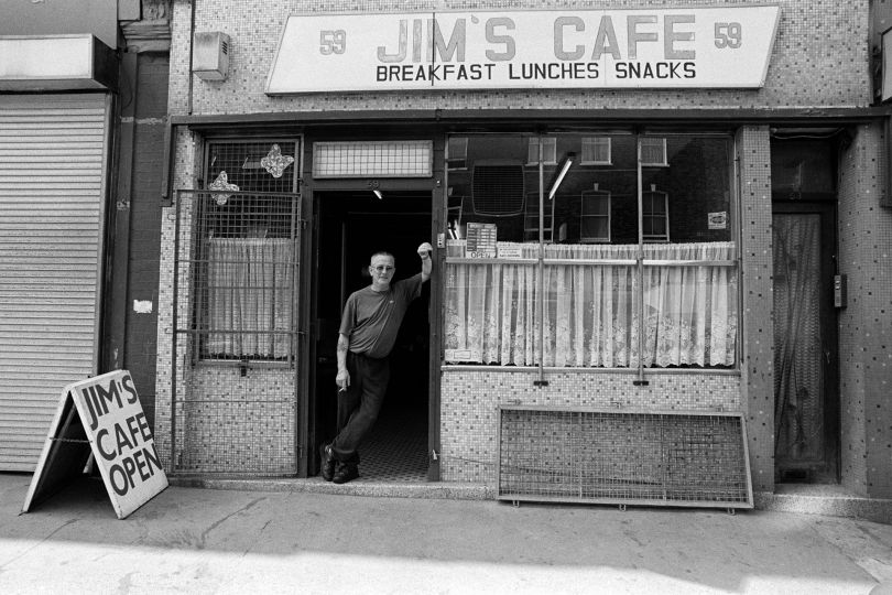 Jim's Cafe before it closed after the proprietor died. Chatsworth Road, Hackney - 2008