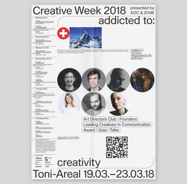 ADC Creative Week 2018 by Nayla Baumgartner, Fabio Menet, Louis Vaucher & Lucas Manser, 2018. All images courtesy of Base Design