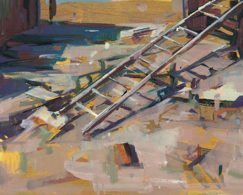 Lying Ladder, 20x25cm. © Katharine Le Hardy