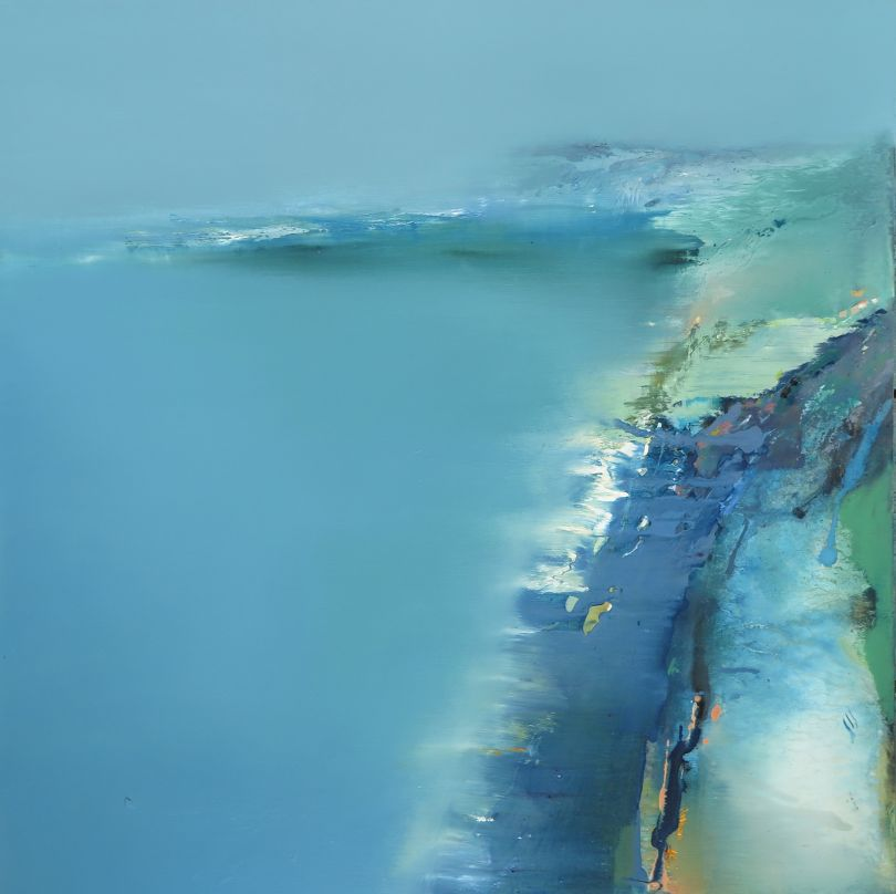View from Above, oil painting 2020 © Elaine Jones
