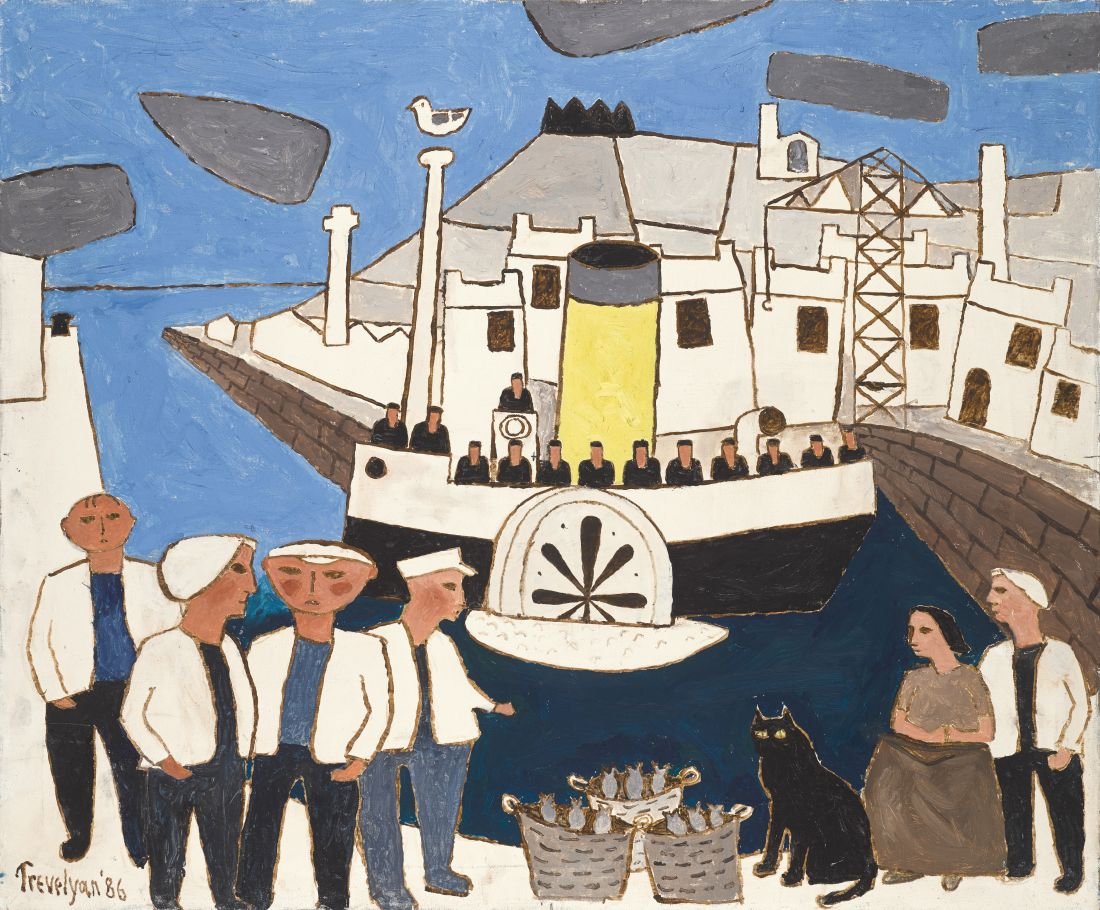 Julian Trevelyan, Paddle Steamer, 1986, oil on canvas, 30 x 36 cm, Private Collection © The Julian Trevelyan Estate