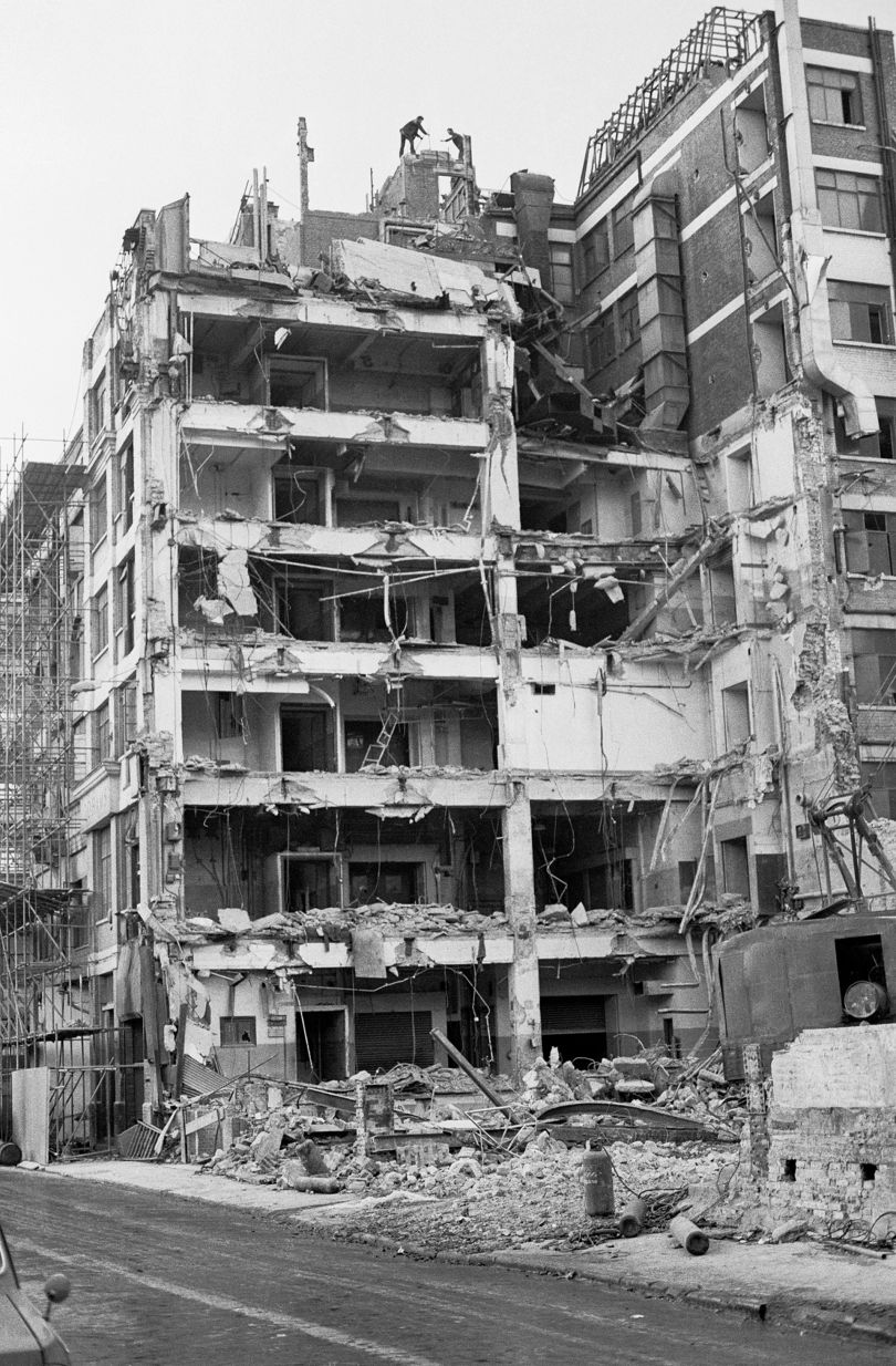 Demolished building on Long Acre, Covent Garden - 1986