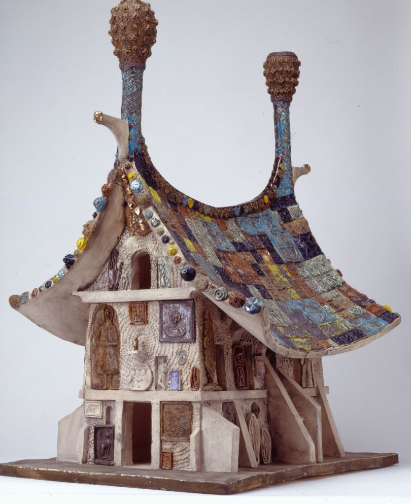 Grayson Perry, Model for 'temple for everyone', 2008, Glazed ceramic 77 x 50 x 65 cm 30 1/4 x 19 3/4 x 25 5/8 in © Grayson Perry. Courtesy the artist and Victoria Miro, London / Venice (photography Stephen Brayne)