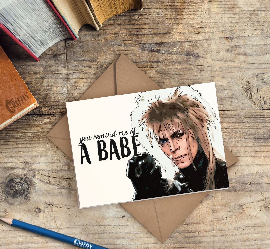 Priced at £2.75 | [Buy the card](https://www.etsy.com/uk/listing/586429599/labyrinth-valentines-card-you-remind-me?ref=shop_home_active_22)