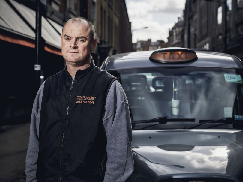 """""""Look in the back of my cab - see that, that's my window cleaning gear. I have been forced to take up a second job to make this work since Uber came along. I'm so angry at TfL - they could stop it tomorrow. I get it, they're cheap, but I'd never let my daughter or wife use one - there are way too many horror stories about Uber drivers and the amount of accidents they cause."""