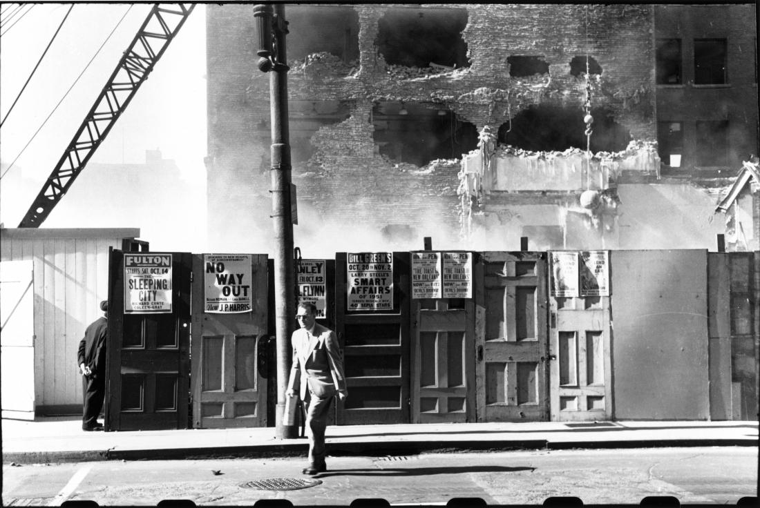 Gateway Center Demolition area, Pittsburgh 1950 © Elliott Erwitt / Magnum Photos Courtesy: Carnegie Library of Pittsburgh