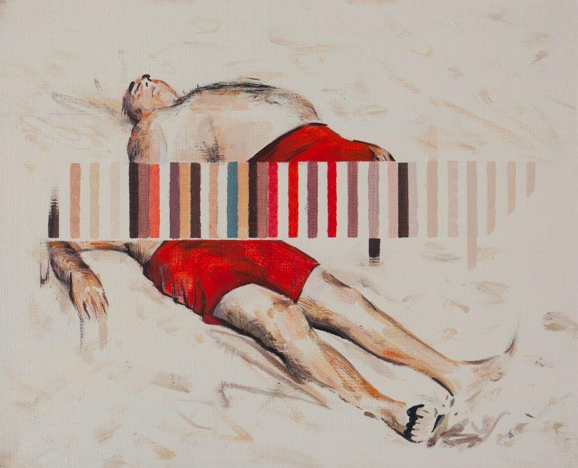 Darren Coffield, Drift, 2019. Acrylic on canvas, 25.8 x 30.5 cm © Darren Coffield. Courtesy of Dellasposa Gallery