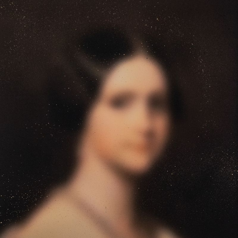 Blurred paintings inspired by the Old Masters, created with layers of aerosol paint
