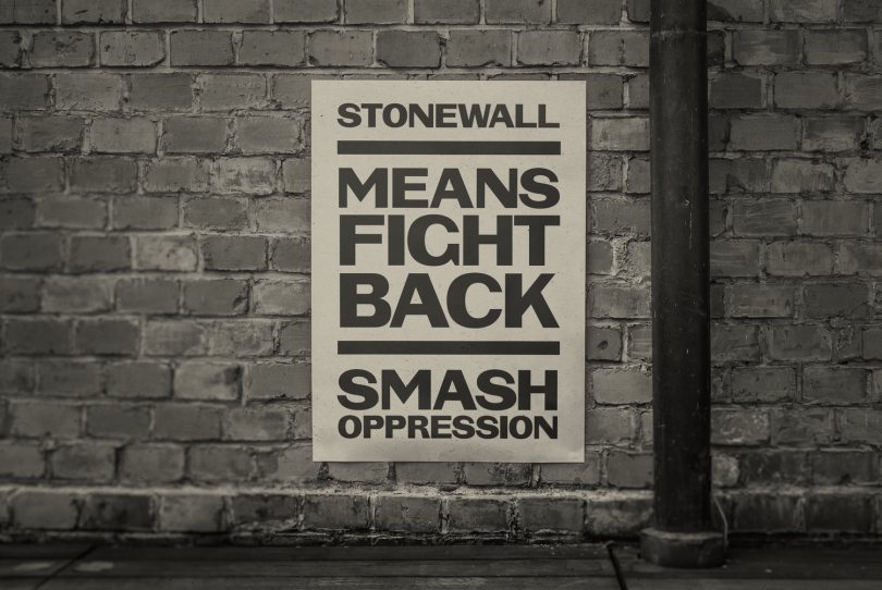 Stonewall poster by Vocal Type
