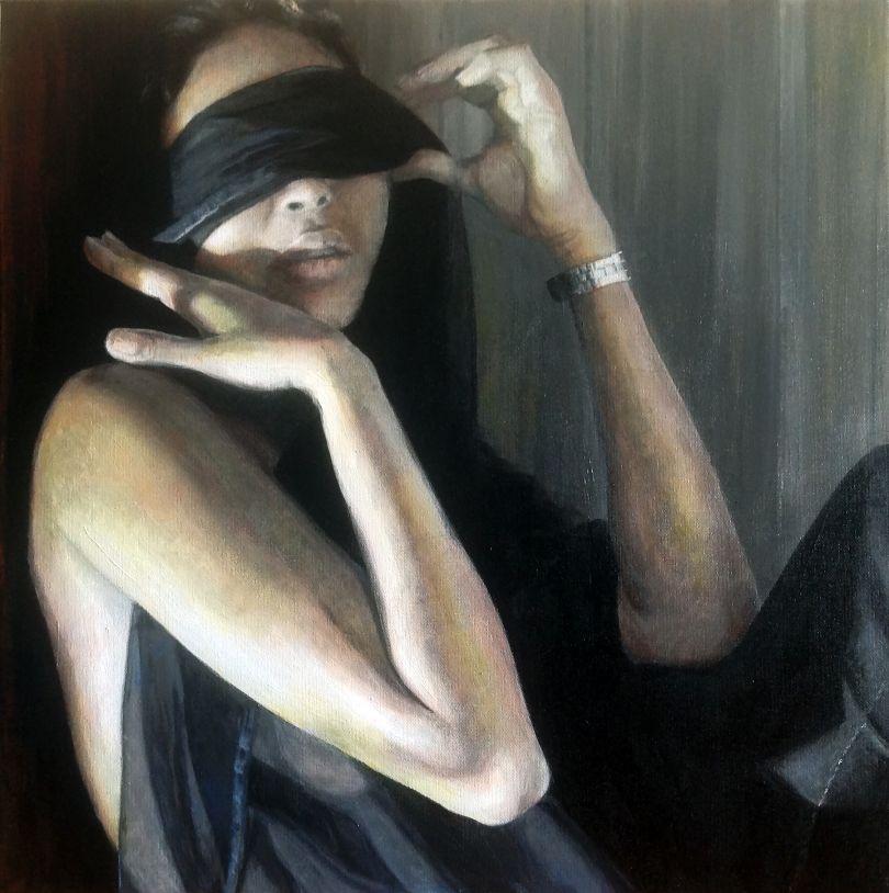 Paula Saneaux - Watch - Acrylic on canvas - 20x20 in - 2016