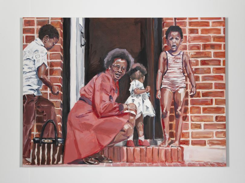 Wangari Mathenge The Expats II (Hampstead Garden Suburb), 2020 Oil on canvas 48 x 65 in (121.9 x 165.1 cm) Courtesy of the artist and Roberts Projects, Los Angeles, CA