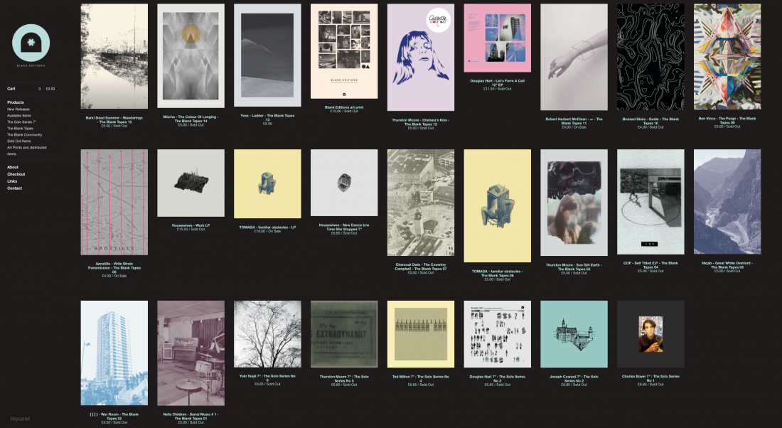 Blank Editions releases
