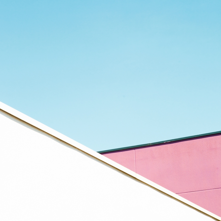 Geometric, Minimalist Photography Of Pastel Coloured