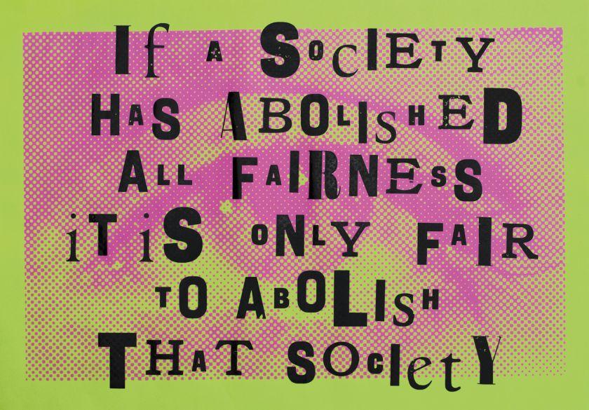 Fairness © New North Press + Extinction Rebellion Art Group / Paris68redux