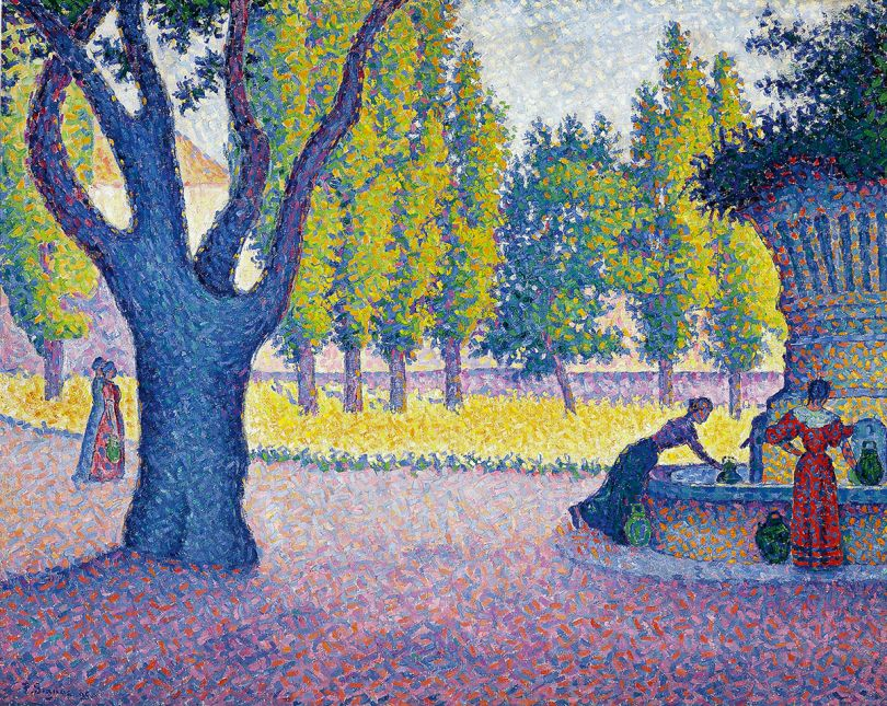 Paul Signac Saint-Tropez, Fontaine des Lices, 1895
