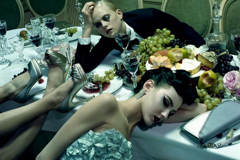 Dinner Party #3, 2009, Chromogenic Print © Miles Aldridge