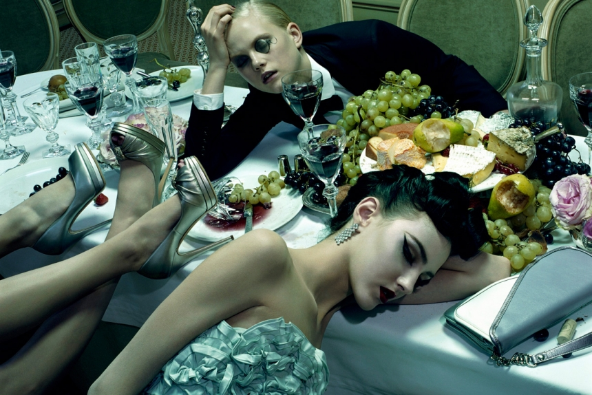 Dinner Party #3, 2009, Chromogenic Print © Miles Aldridge