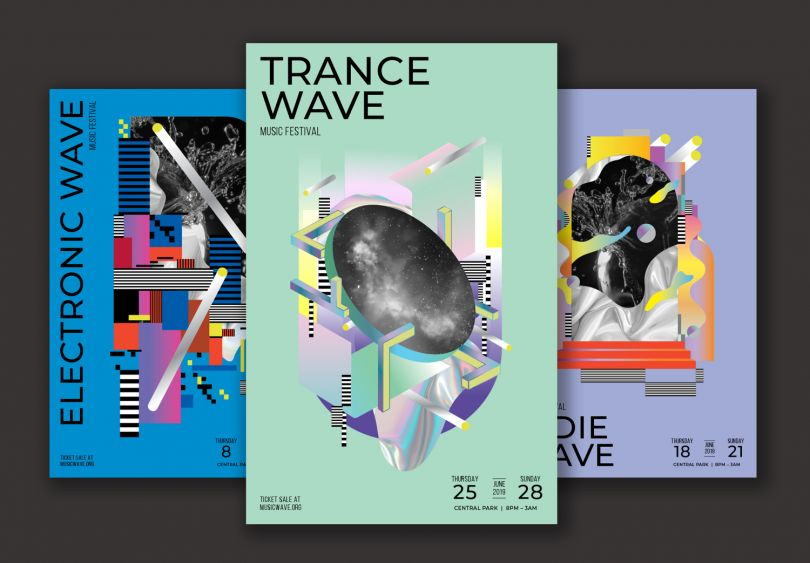 Futuristic Event Posters Set by Design Army. All images courtesy of Design Army. Via Creative Boom submission.