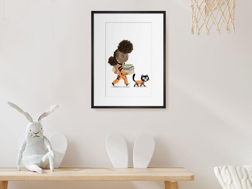 Dapo Adeola drawing kids' hero Rocket