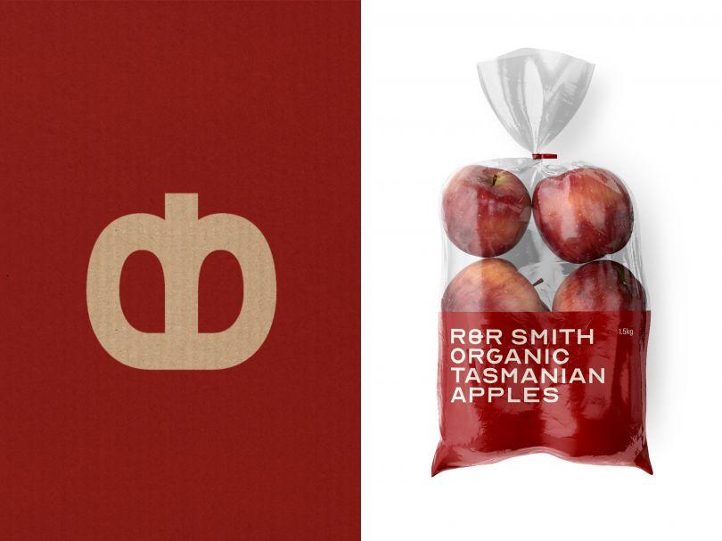 R&R Smith Apples Logo and apple packaging bag (2020) | Direction & Design: Megan Perkins