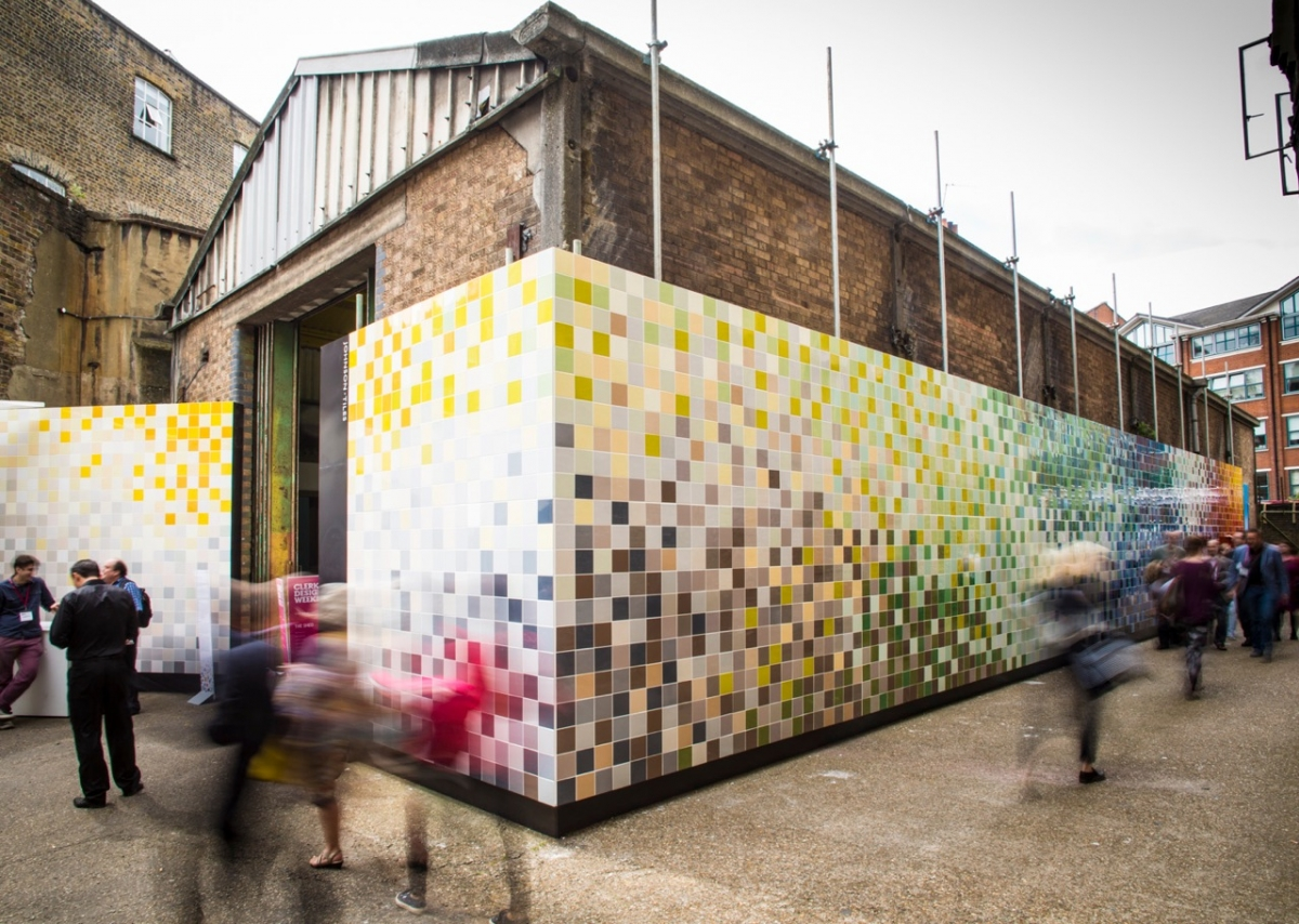 Giant tile mural unveiled at Clerkenwell Design Week  Creative Boom -> Design Mural