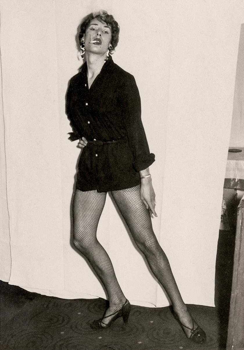 Man dressed as a woman, Mannheim, Germany, circa 1960. Courtesy of Sebastian Lifshitz and The Photographers' Gallery