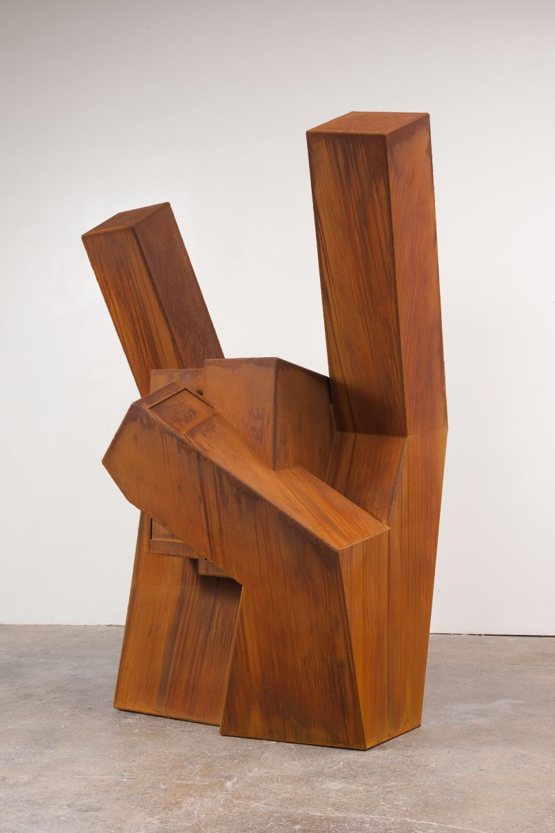 Nathan Mabry, Heavy Handed (2013), Weathering Steel, 210x150x120cm