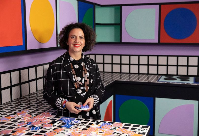 Camille Walala has partnered with LEGO to celebrate creativity through a new colour and pattern focused range, called LEGO DOTS. Photo credit Getty Images.