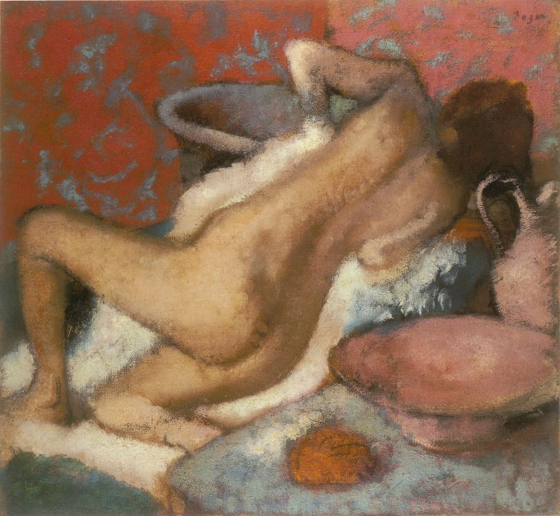 Hilaire-Germain-Edgar Degas After the Bath, about 1896 Oil on canvas, 74.9 x 81.3 cm The National Gallery, London. Bequeathed by Simon Sainsbury 2006 © The National Gallery, London