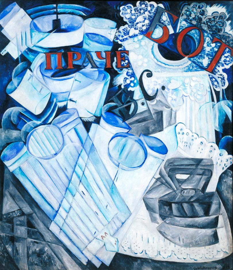 Natalia Goncharova (1881- 1962) Linen 1913 Oil paint on canvas 956 x 838 mm Tate. Presented by Eugène Mollo and the artist 1953 © ADAGP, Paris and DACS, London 2019