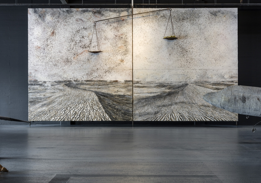 Anselm Kiefer. S Hg NaCl, 2012 Installation shot, Copenhagen Contemporary 2016. Photo: Anders Sune Berg