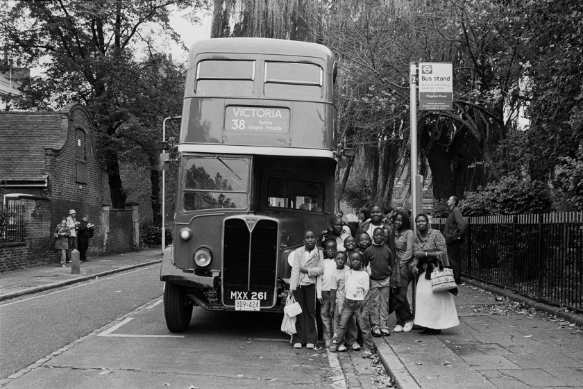 The last day of the Routemaster buses on the 38 route. Clapton Pond, Hackney - 2005