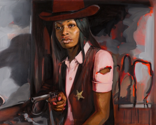 Felice House, Liakesha Cooper in High Noon, 2013. Oil on canvas.