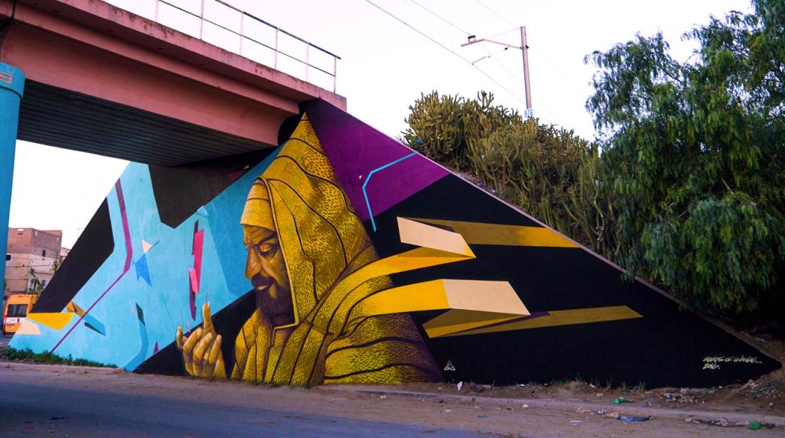 Morocco Street Art Caravane - 2016 Collaboration with Jason System Youssoufia